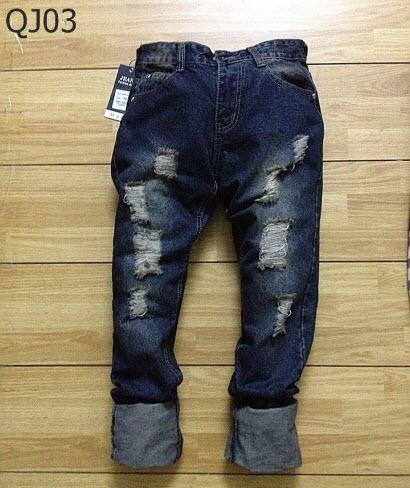 quần jean rách xước cho nam