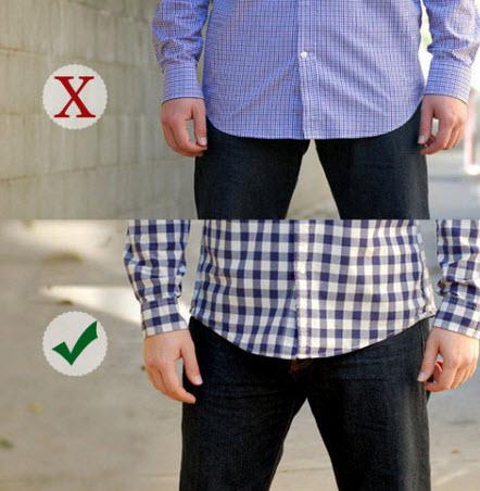 Bạn sẽ cao hơn với áo sơ mi ngắn tay