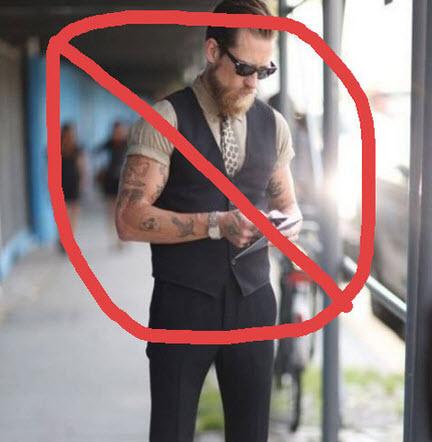 Người thấp không nên mặc ghile