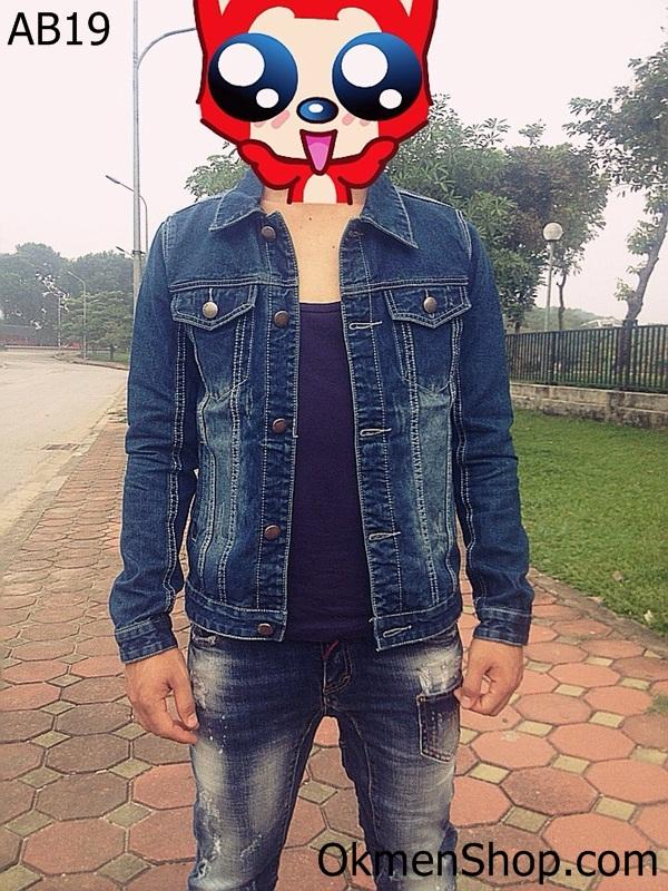 Áo khoác jeans nam AB19