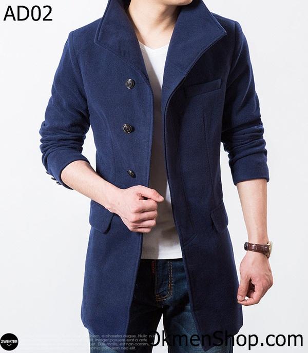 Áo khoác dạ nam đẹp dáng dài