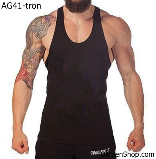 Áo tập gym thể hình nam trơn