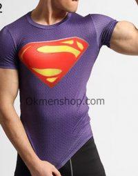 Áo superman thể hình màu xanh đen