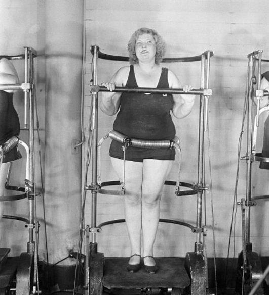 Quần áo tập gym ngày xưa