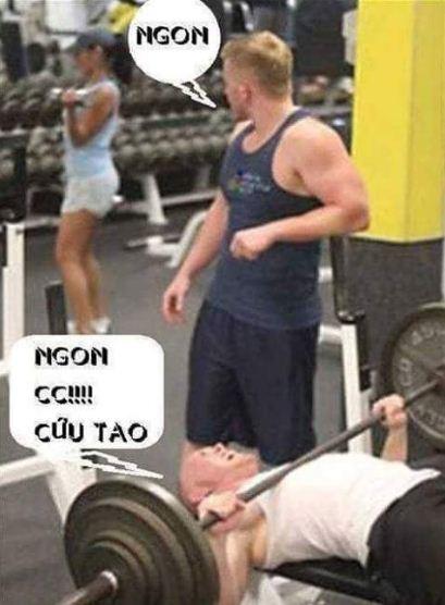 Ảnh hài tập gym