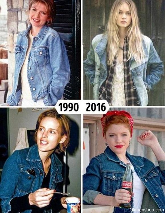 Áo khoác bò nữ đẹp những năm 1990