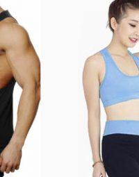Áo tập gym nam khác áo gym nữ