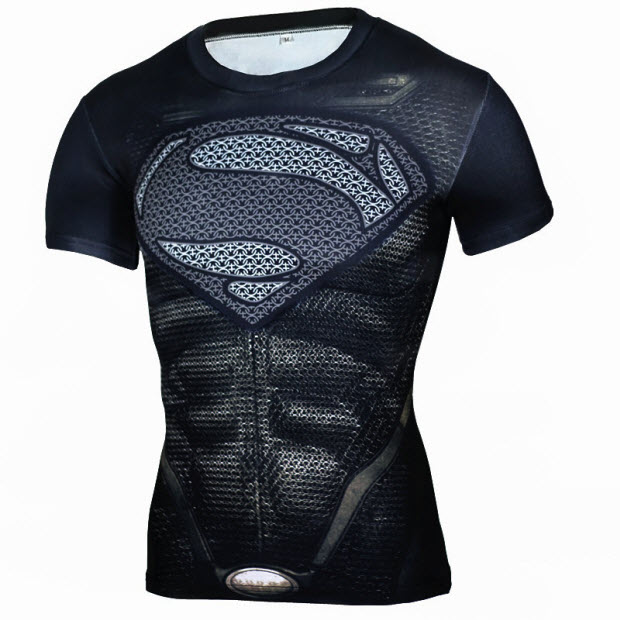 Áo superman màu đen 6 múi