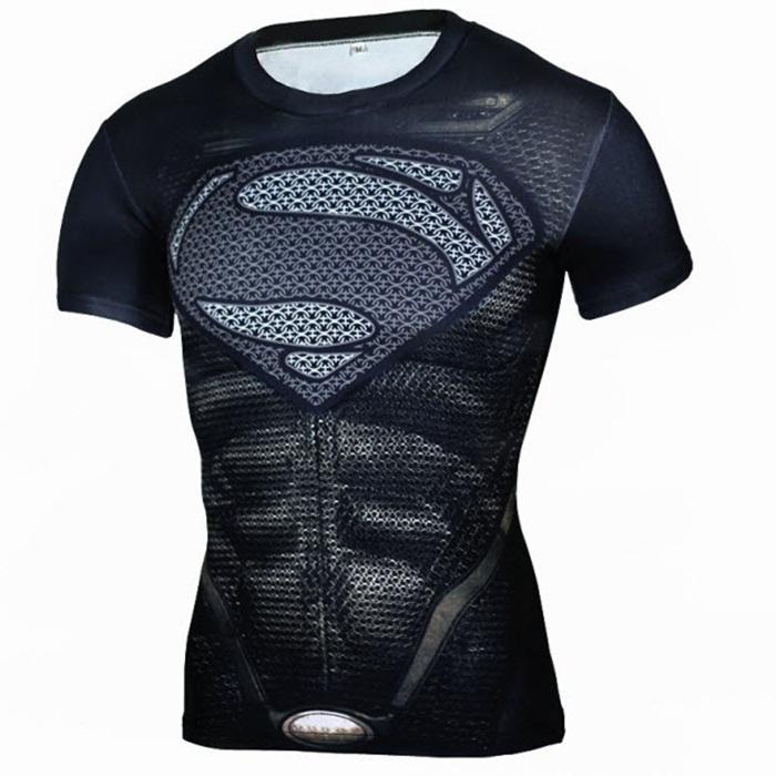 Áo marvel siêu nhân màu đen