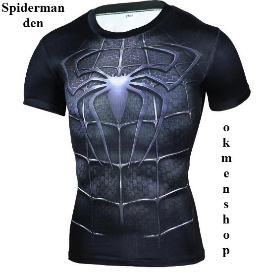 Áo tập thể hình người nhện màu đen