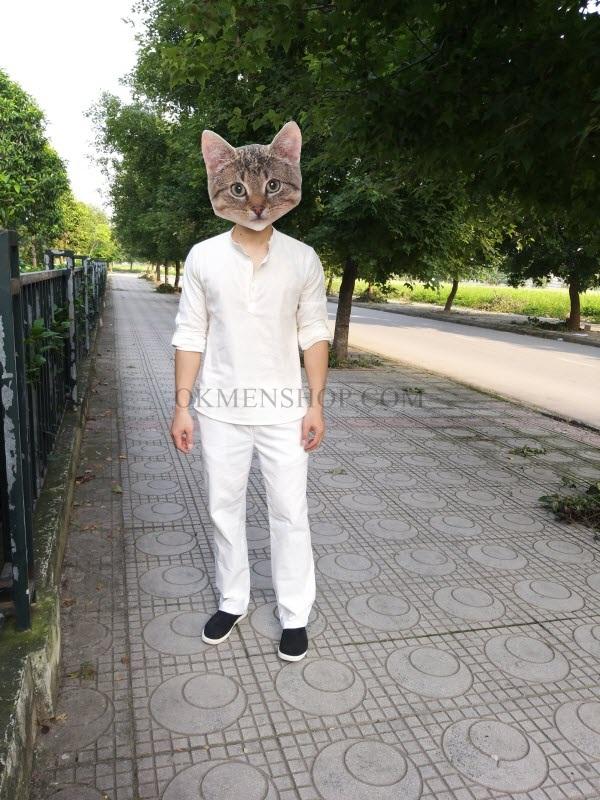 Quần áo đũi màu trắng