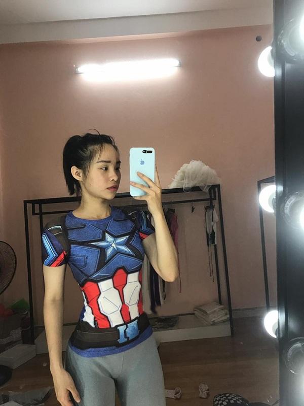 áo đội trưởng mỹ gym nữ