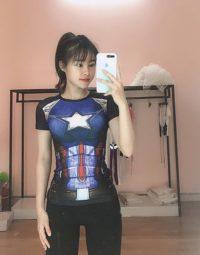 Áo siêu anh hùng nữ gym