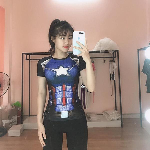 áo siêu anh hùng gym nữ captain