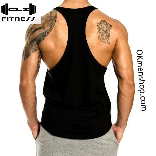 Áo tập gym nam hở lưng